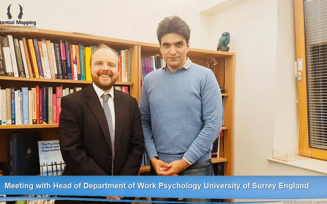 Meeting with Dr Woods ( Head of Work Psychology University of Surrey)